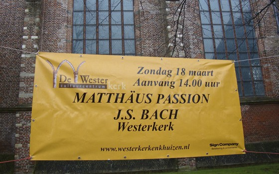 Matthäus Passion in Westerkerk